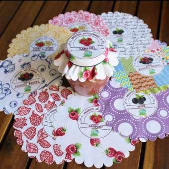 copri vasetti tela stampati personalizzati