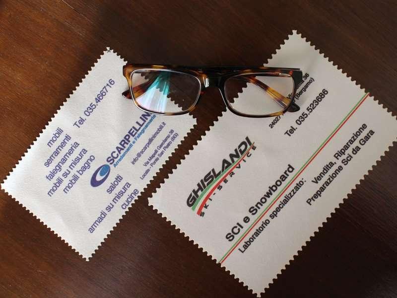 panni pulizia occhiali stoffa personalizzati