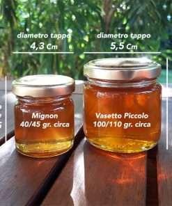 misure vasetti miele